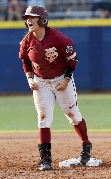 FSU softball standout Jessie Warren could be seen wearing the during her team's historic run to the 2018 National Championship