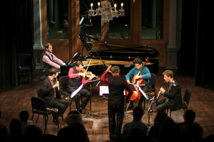 The Meitar Ensemble and Pierre-André Valade perform at 7:30 p.m. Friday in Opperman Music Hall. (Photo: The Meitar Ensemble)