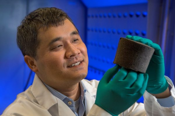 """Changchun """"Chad"""" Zeng, an associate professor of engineering at Florida State, developed an advanced foam technology that has gone on to benefit several elite athletes at FSU."""