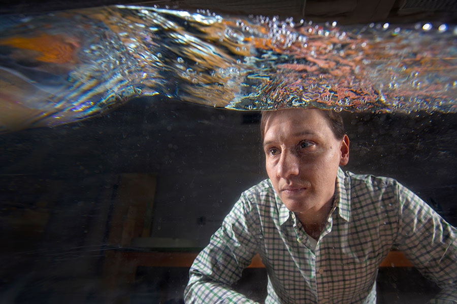 Nick Moore, assistant professor of mathematics at Florida State, is the author of a new study on rogue waves.