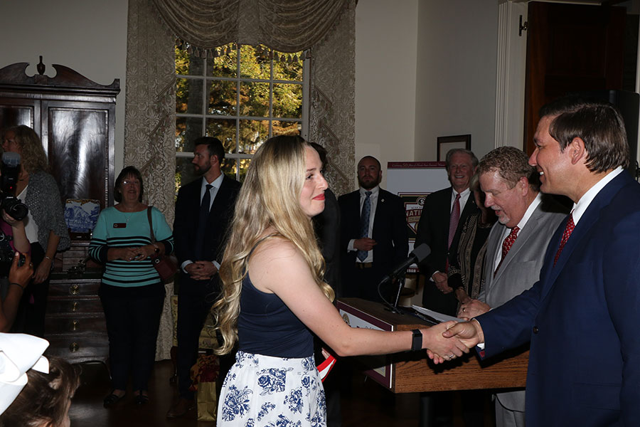 FSU's NCAA champion softball and soccer teams visit the Florida Governor's Mansion Wednesday, March 13, 2019. (Photo: Ryals Lee)