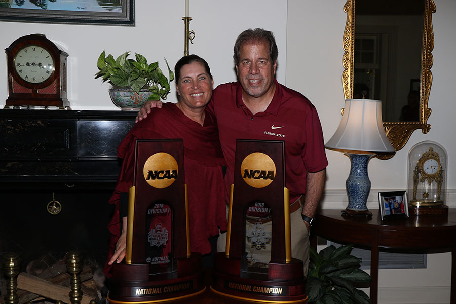 Coaches Lonni Alameda and Mark Krikorian at the Florida Governor's Mansion Wednesday, March 13, 2019. (Photo: Ryals Lee)