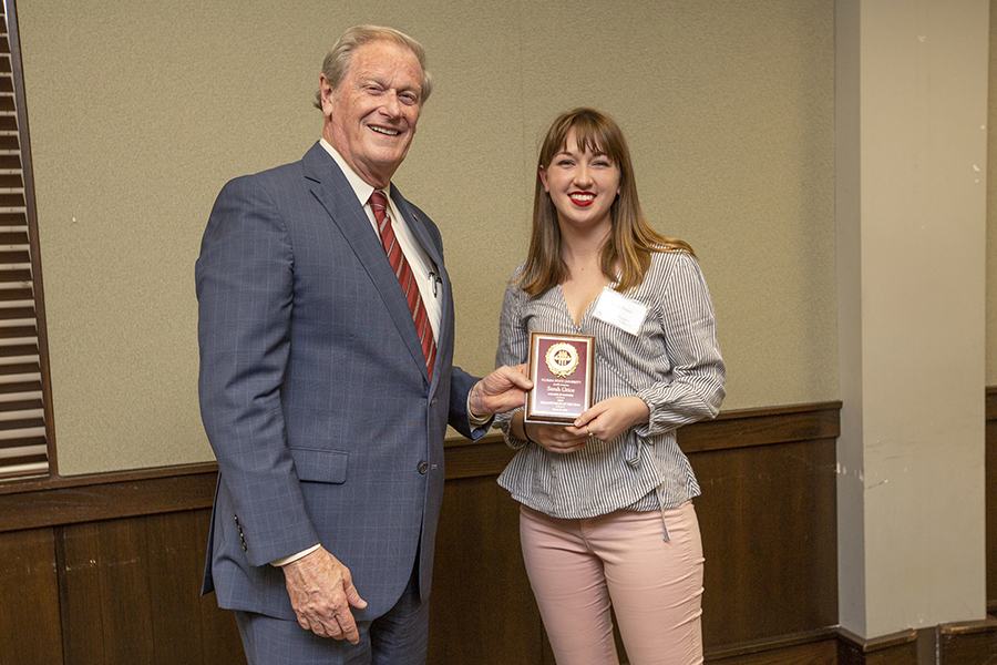 President John Thrasher and Sarah Grice at the 2019 Humanitarian Luncheon, Tuesday, March 26. (FSU Photography Services)