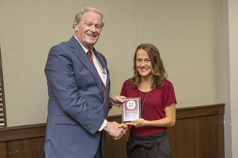President John Thrasher and Emily Botta at the 2019 Humanitarian Luncheon, Tuesday, March 26. (FSU Photography Services)