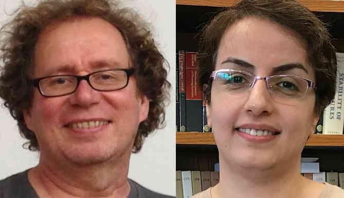 FSU computational biologist Peter Beerli and postdoctoral mathematician Somayeh Mashayekhi.