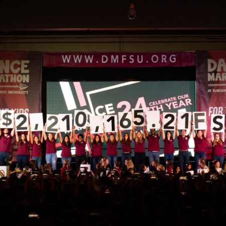 "Dance Marathon at FSU raised $2,210,165.21 in 2019 ""for the kids."""