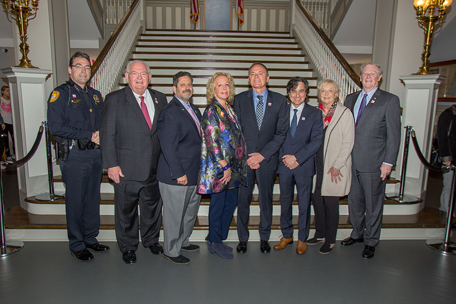 Speakers and supporters at the Maura's Voice announcement Monday, March 4, 2019. (Bill Lax/FSU Photography Services)