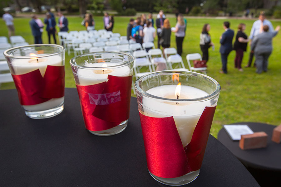 For the second time since the event's creation in 2018, students, faculty and staff gathered on the Mina Jo Powell Green to reflect on and celebrate the lives of seven fallen FSU students. (FSU Photo/Bruce Palmer)