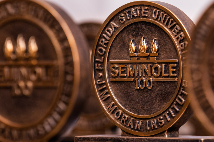 The Seminole 100 Celebration was hosted by the Jim Moran Institute for Global Entrepreneurship, the FSU Alumni Association and professional services firm EY. (Photo: Colin Hackley)