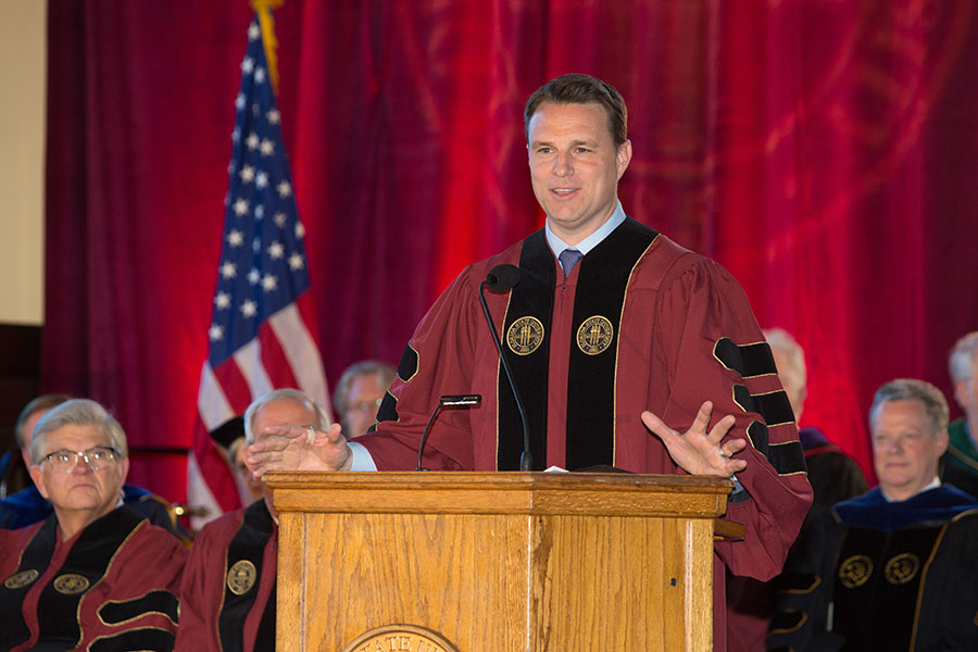 Will Weatherford, former speaker of the Florida House of Representatives and son-in-law of Allan Bense. (FSU Photo/Bill Lax)