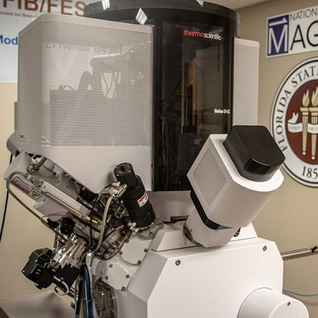 The FIB microscope will allow materials science researchers to slice through minuscule material samples and collect images of their structures.
