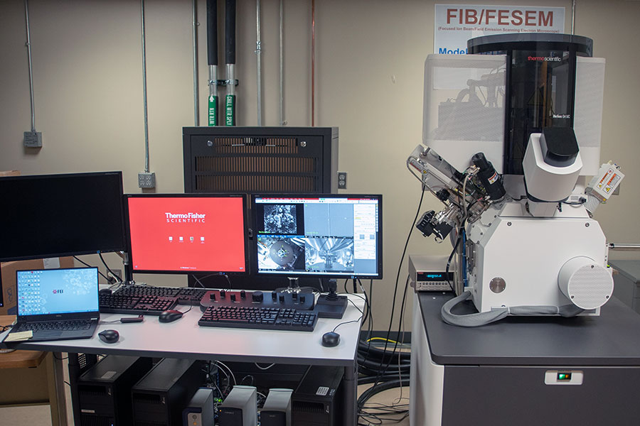 The new FIB microscope is being housed at the National High Magnetic Field Laboratory.