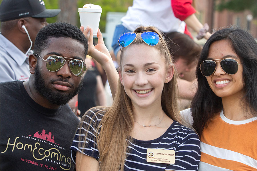 President's Ice Cream Social on Landis Green, April 10, 2019. (FSU Photography Services)