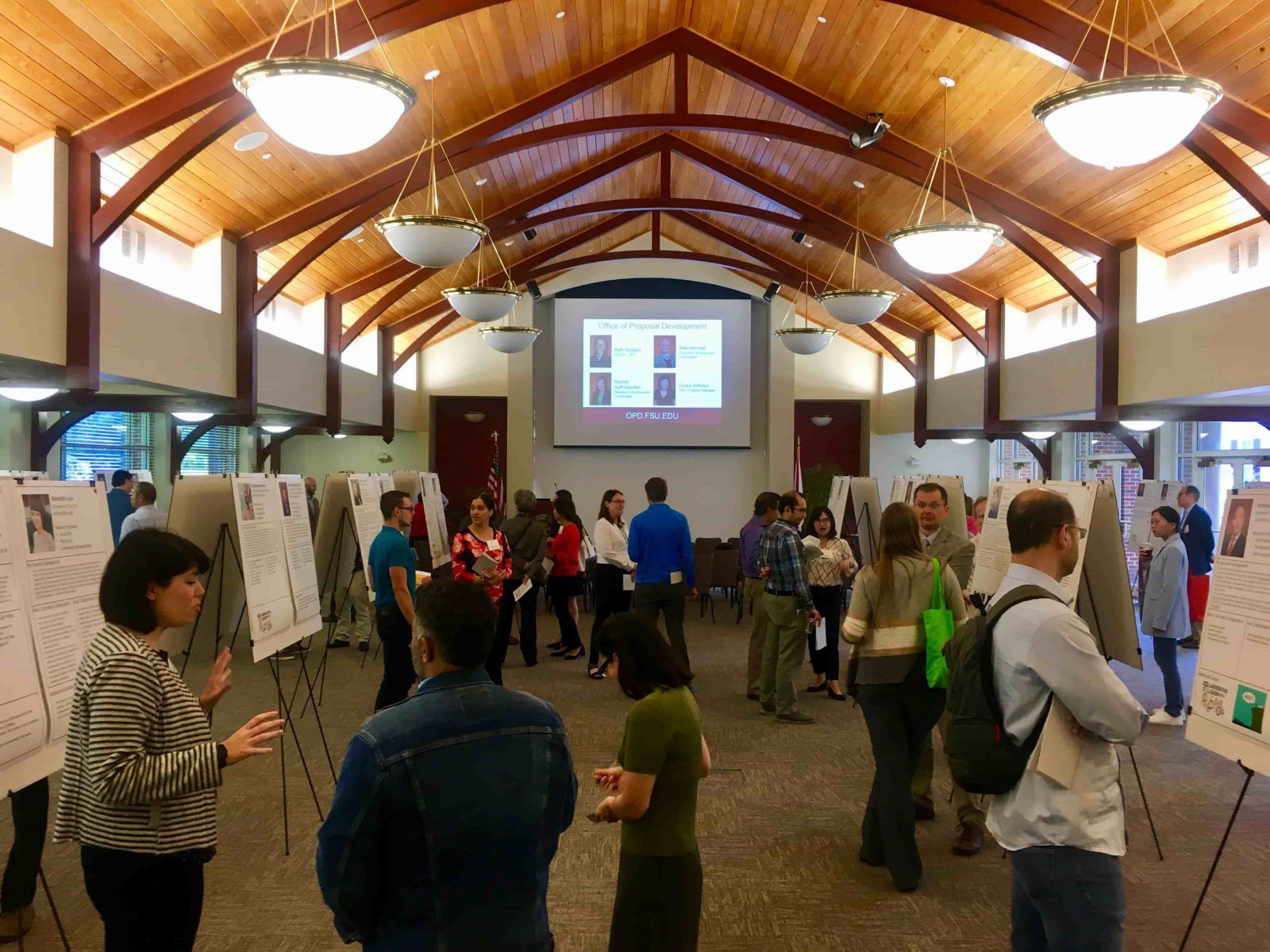 Representatives of almost every FSU college and departments gathered in the FSU Alumni Center to discuss new potential research partnerships addressing the problem of disaster resiliency