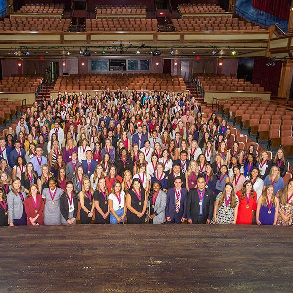 More than 300 FSU students were inducted into the Garnet and Gold Scholar Society Thursday, April 25. (FSU Photography Services)