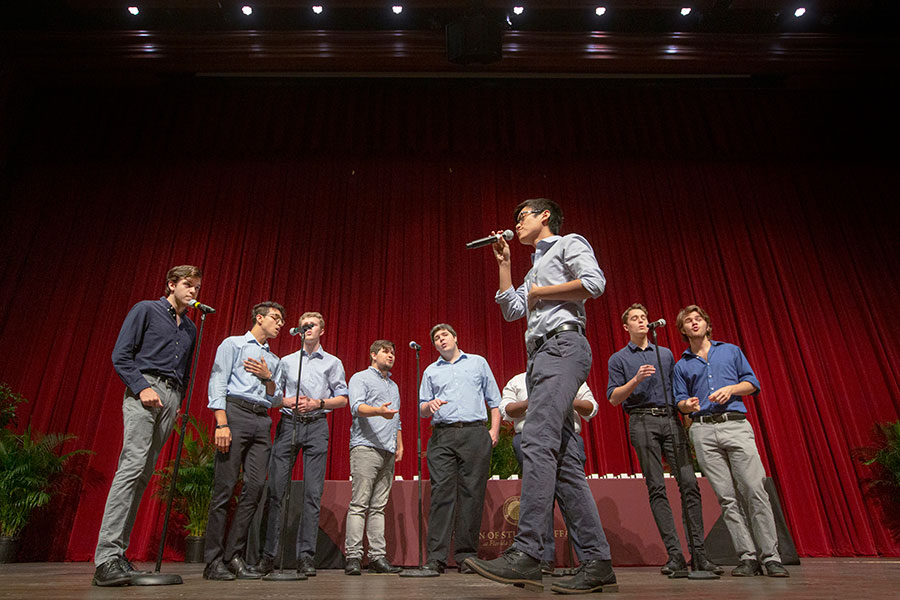 Reverb performs at the FSU Ring Ceremony April 18, 2019. (FSU Photography Services)