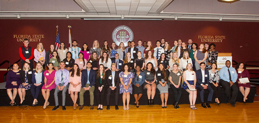More than 100 students from departments and divisions from both the Tallahassee and Panama City campuses were nominated for FSU's Student Employee of the Year awards.