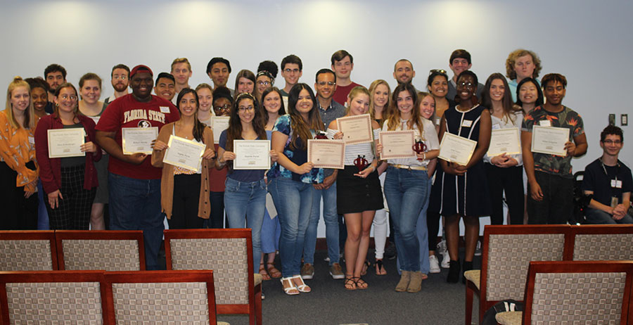 More than 40 FSU students participated in the UROP Excellence in Research initiative's pilot program during the 2018-2019 academic year.