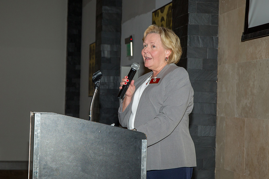 The FSU College of Nursing's faculty, alumni and students celebrated Dean McFetridge-Durdle's accomplishments and contributions at a brunch April 6, 2019. (FSU Photography Services)