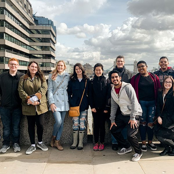 Florida State University students studying abroad in London, England, where FSU has one of its four international study centers.