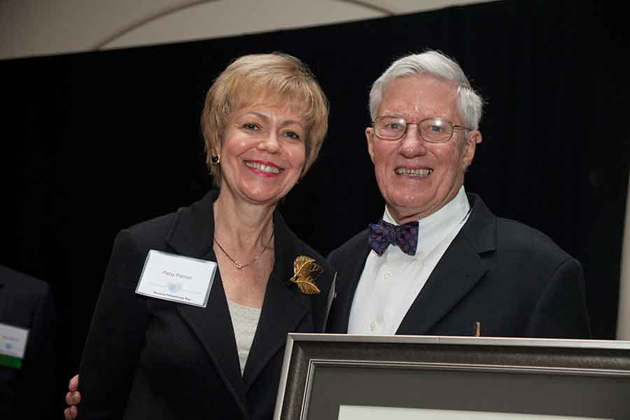 """The Big Bend Chapter of the Association of Fundraising Professionals presented a special Lifetime Achievement in Philanthropy award to Florida State University President Emeritus Talbot """"Sandy"""" D'Alemberte and his wife, Patsy Palmer, during the chapter's annual National Philanthropy Day luncheon on Nov. 10, 2011."""