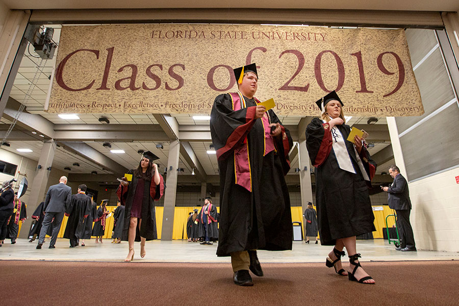 More than 6,500 students received degrees during Florida State's 2019 spring commencement. (FSU Photography Services)