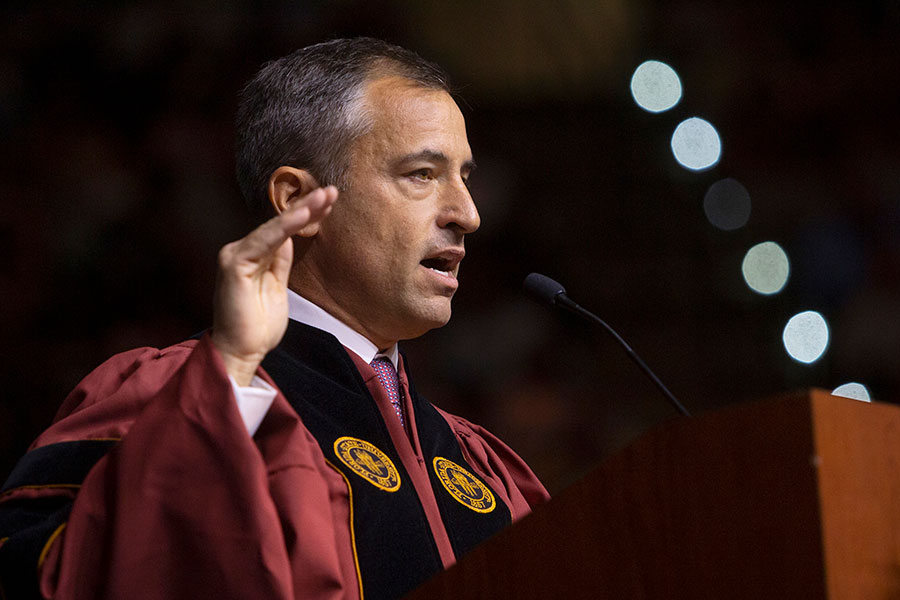FSU alumnus Dave Lane was the keynote speaker at Saturday's commencement ceremonies. (FSU Photography Services)