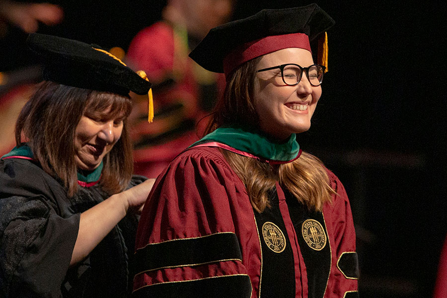 The FSU College of Medicine's Class of 2019 celebrated during its commencement ceremony May 18, 2019, at Ruby Diamond Concert Hall. (FSU Photography Services)