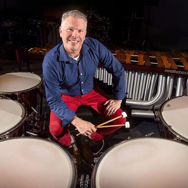 John W. Parks IV, professor of percussion in the College of Music