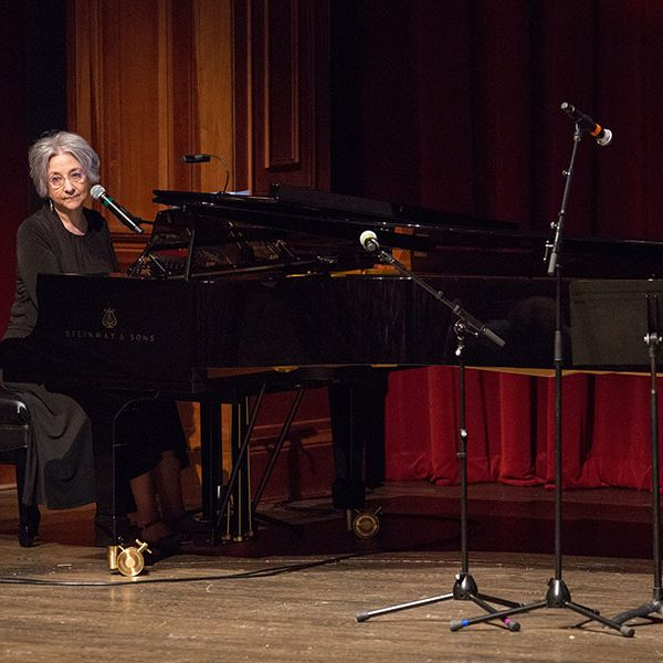Pianist Velma Frye performs