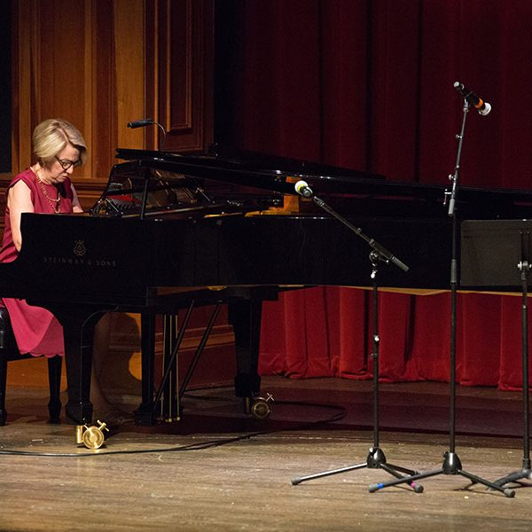 Pianist Stella Cottrell plays