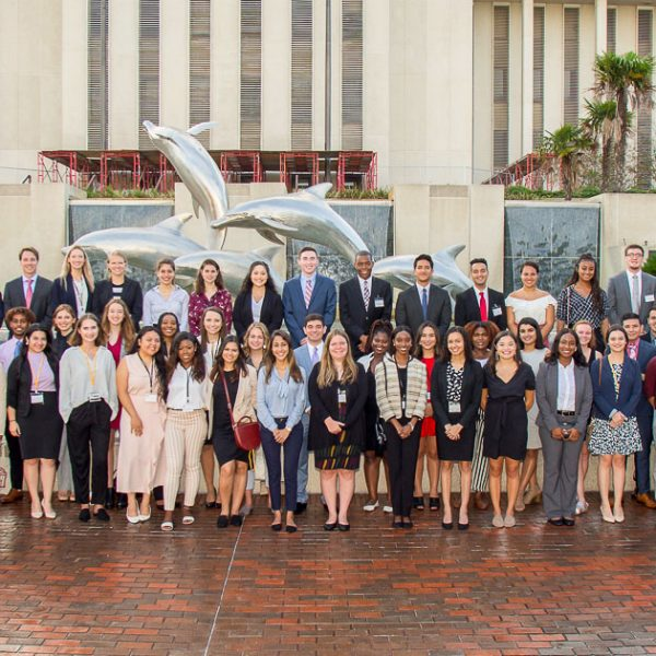Students in the 2019 Donald J. Weidner Summer for Undergraduates Program at the College of Law learned about legal opportunities in state government as they toured the Florida Capitol June 20. (FSU Photography Services)