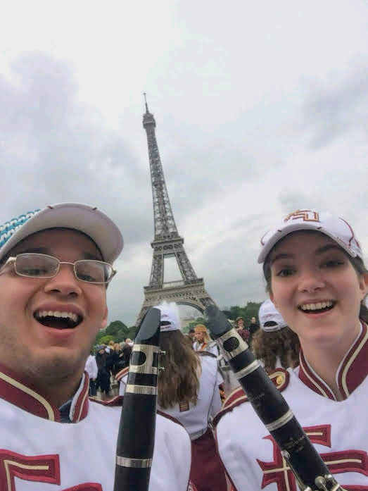 The FSU Marching Chiefs performed in Paris as part of events commemorating the 75th anniversary of D-Day. (June 5, 2019)
