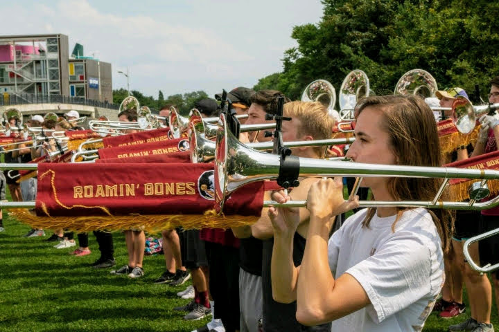 The FSU Marching Chiefs rehearsed in Paris prior to participating in events commemorating the 75th anniversary of D-Day. (June 4, 2019)