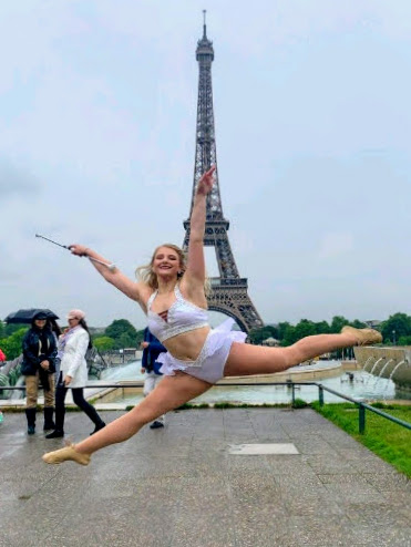 FSU featured twirler Cassie Roby and the Marching Chiefs performed in Paris as part of events commemorating the 75th anniversary of D-Day. (June 5, 2019)