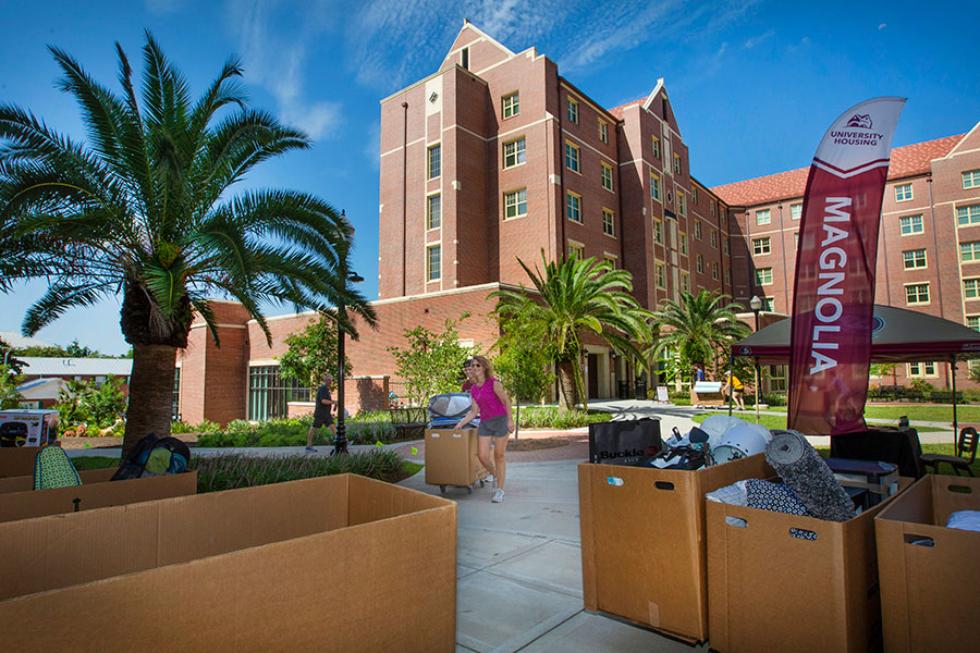 Florida State students move in for the fall semester Aug. 22, 2019. (FSU Photography Services)