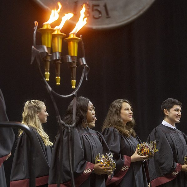 Florida State University holds New Student Convocation Sunday, Aug. 25, 2019, at the Donald L. Tucker Civic Center. (FSU Photography Services)
