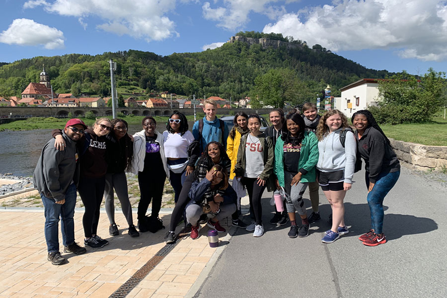 Ten FSU students travelled to Dresden, Germany, this summer through FSU's Beyond Borders program. (Bernadyne Thelemaque)