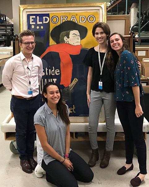 Allison Marino curated an exhibit alongside three other colleagues for her internship at the Norton Museum of Art in West Palm Beach. (Allison Marino)