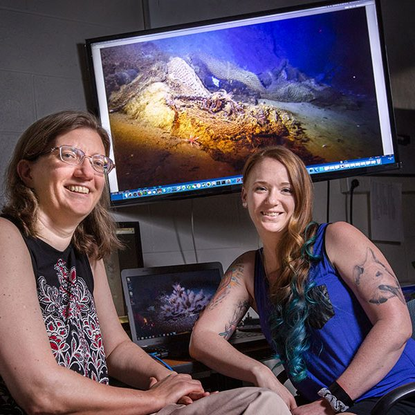 Associate Professor of Oceanography Amy Baco-Taylor and doctoral student Nicole Morgan