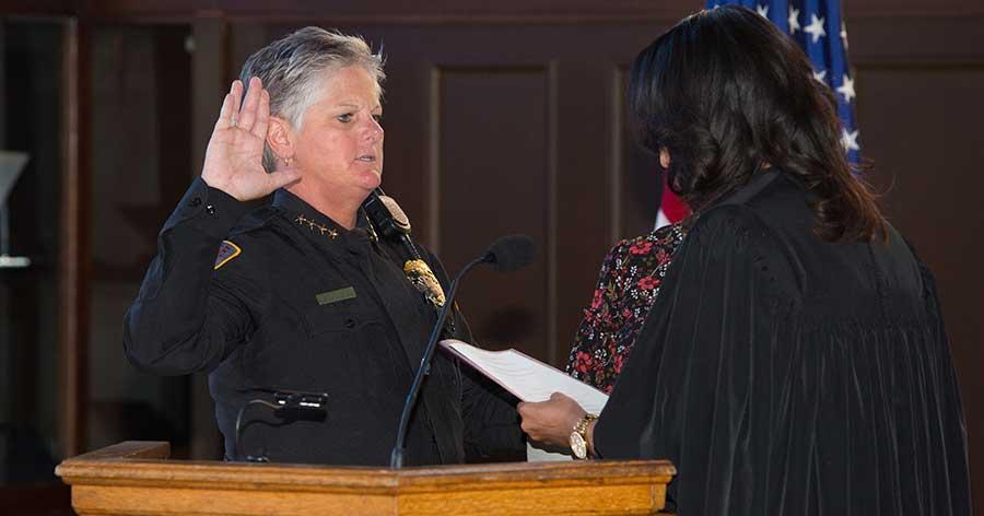 Terri Brown sworn in as first female FSU chief of police