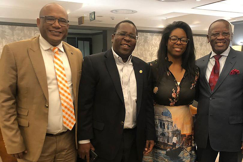 Mundoma, second from left, said the Botwanan universities had considerable interest in his area of expertise — research infrastructure management.