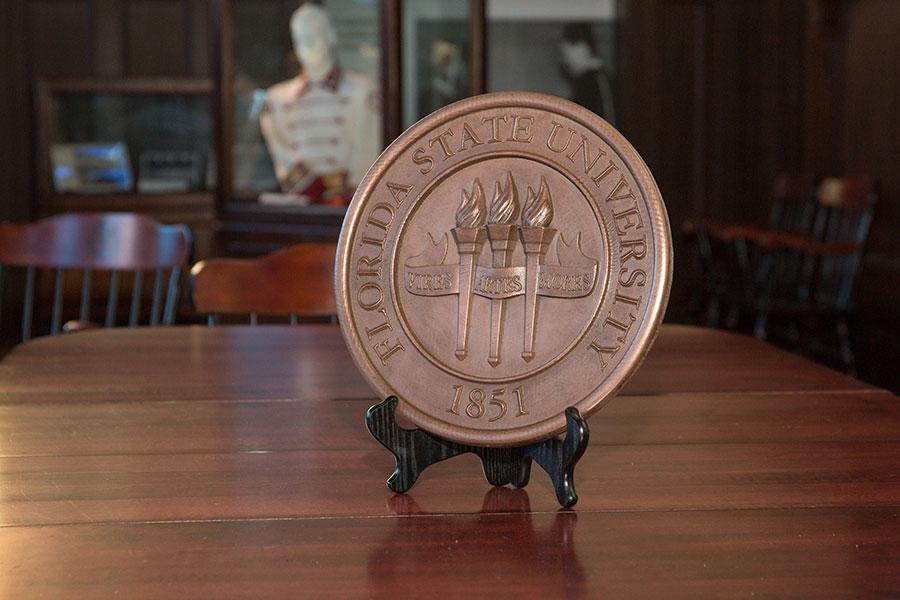 A Master Craftsman Studio-designed Florida State University seal.