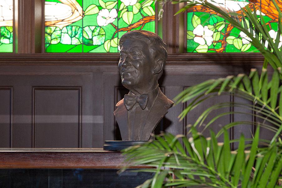 A Master Craftsman Studio-designed bust of former President Talbot