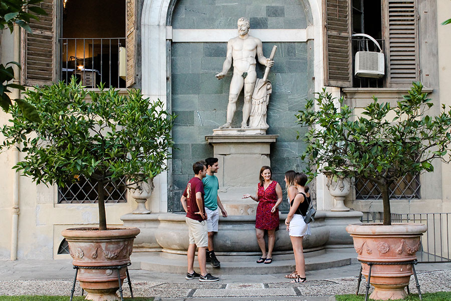 Students visiting FSU's study center in Florence, Italy, have an opportunity to experience ancient art firsthand.