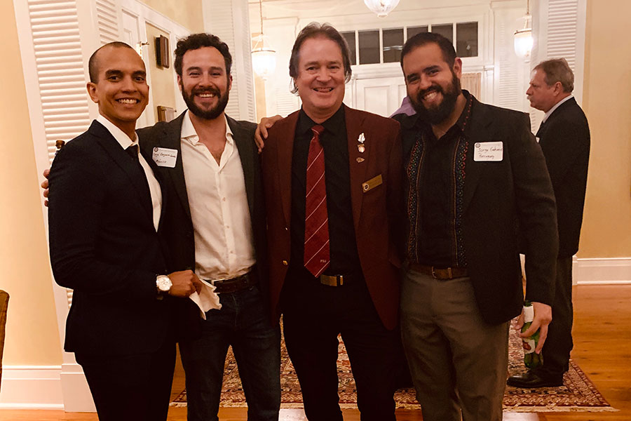 From left: Luis Ángel Porto Hernández, Jorge Oseguera Gamba, Mark Riley, and Jorge Ramón Galeano Cabral.