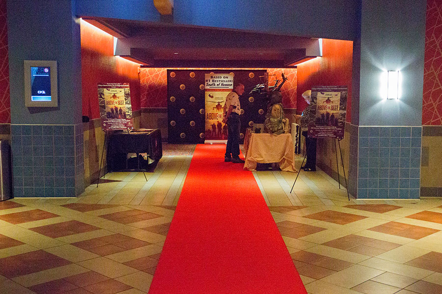 The event, presented by the College of Motion Picture Arts Torchlight Cinematheque in association with the FSU Veterans Alliance, marked the ninth year FSU has screened a veteran-themed film in honor of Veterans Day. (FSU Photography Services)