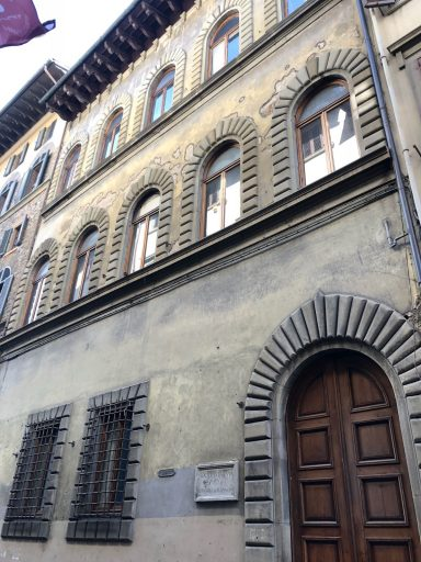The exterior of the 37,000-square-foot Palazzo Bagnesi Falconeri, in the heart of Florence, Italy.