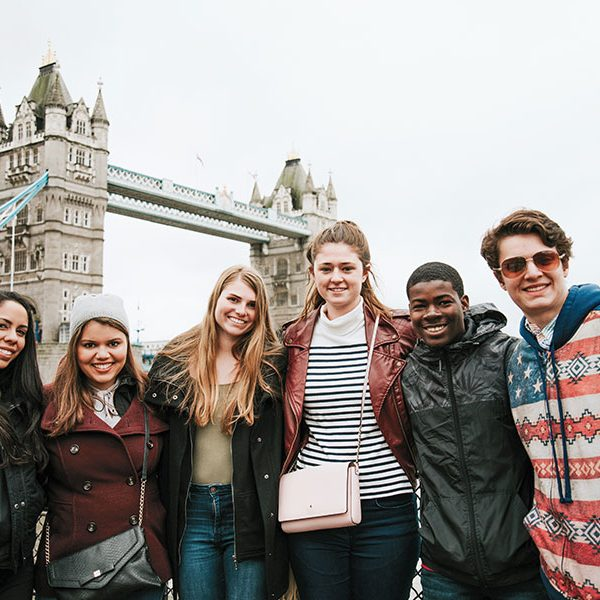 Students from FSU's study center in London tour the city.