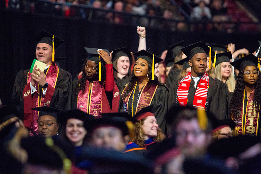 Florida State University held commencement ceremonies Dec. 13 and 14 to honor the 2,700 students who earned degrees from FSU this fall. (FSU Photography Services/Bill Lax)